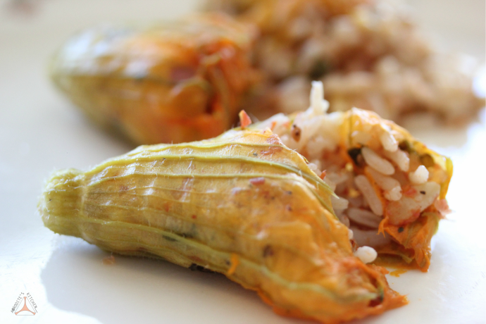 Stuffed Zucchini Flowers (Spicy Anthous) | AΦRODITE's KITCHEN | A ...
