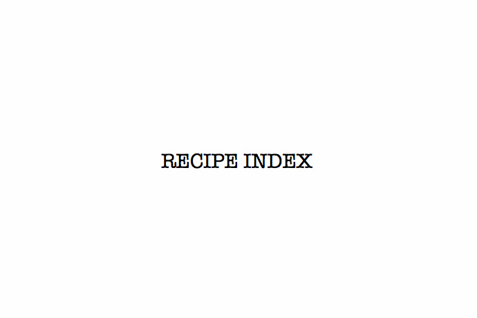 recipeindex