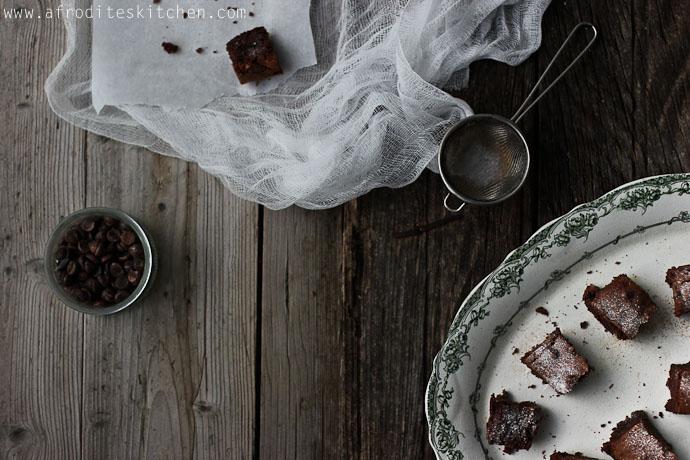 carob brownies recipe afrodite's kitchen