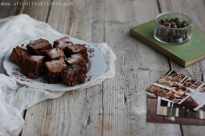carob chocolate brownies recipe afrodite's kitchen