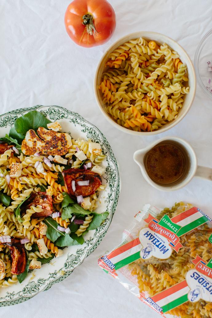 Mitsides Tricolore Pasta Salad Afrodite's Kitchen-7017