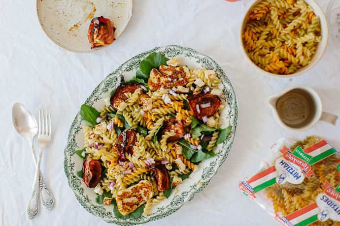 Mitsides Tricolore Pasta Salad Afrodite's Kitchen-7033
