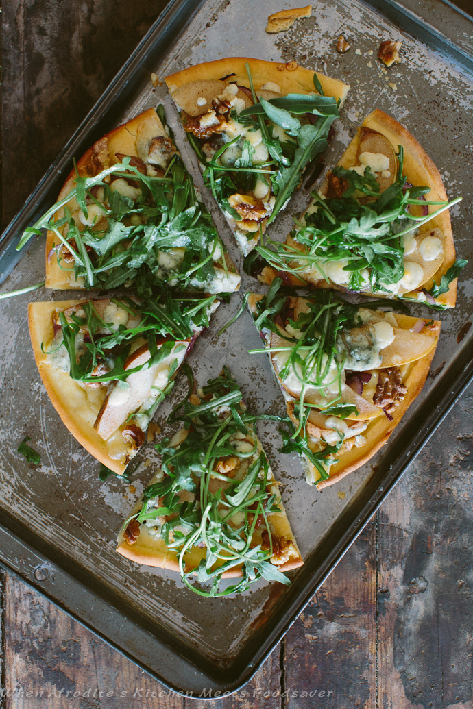 Wild Mushroom Pizza and Caramelized Pear, Gorgonzola & Arugula Pizza ...