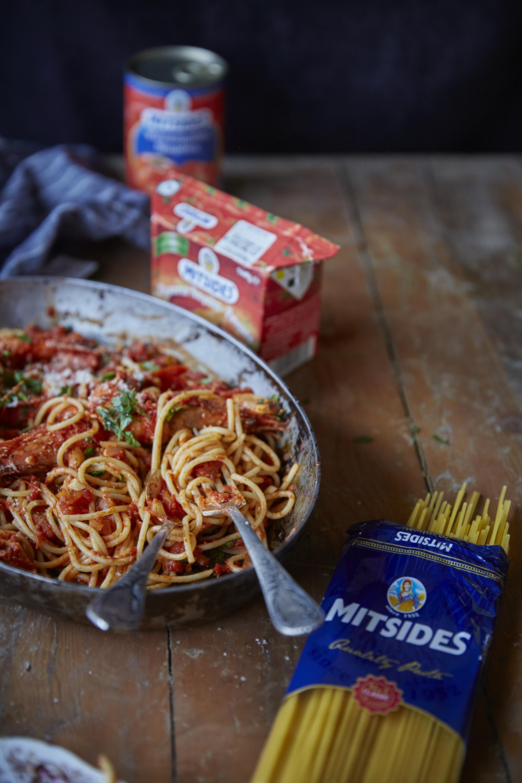 Mitsides Ouzo Spaghetti Mitsides - Prawn Ouzo Spaghetti1141